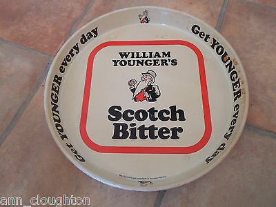 Vintage Beer Tray Advertising  WILLIAM YOUNGER'S SCOTCH BITTER
