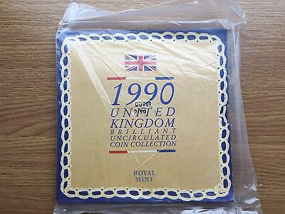 1990 Sealed Royal Mint UK Brilliant Uncirculated Year Coin Set - BU Sealed