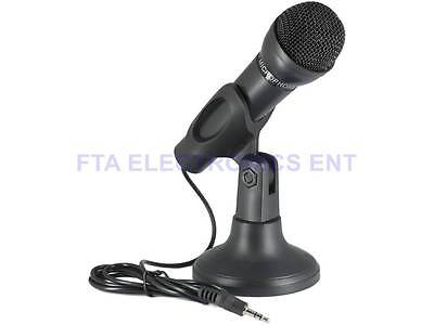 3.5mm Mic Studio Speech Microphone With Stand for Laptop Notebook PC Computer