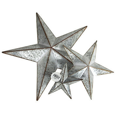 Metal Rustic Stars Galvanized Stars Christmas Decor Door Hangers