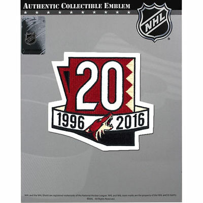 Official  Arizona Coyotes 20th Anniversary Jersey Patch 2016/17 Season