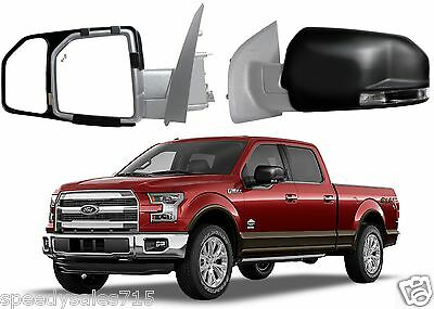 Fit System 81850 Snap On Tow Mirror Pair For 2015-2017 Ford F-150 New Free Ship