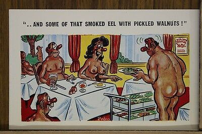 """Sunny Pedro Comics Series Funny  Postcard """" Ordering Appetizer""""# 174 Unposted"""