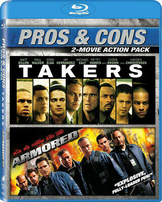 Armored / Takers [New Blu-ray] 2 Pack, Ac-3/Dolby Digital, Dolby, Dubbed, Subt