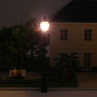 LQS24 10 Model Railroad train Lamp posts Led street light Antique Lamps O scale