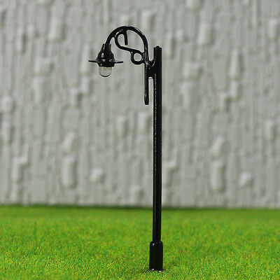 LSL09 10pcs Model Railway Lamppost Lamps Led Street Lgihts Yard OO/HO Scale 12V