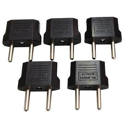 5PCS Lot US/USA to European Euro EU Travel Charger Adapter Plug Outlet Converter