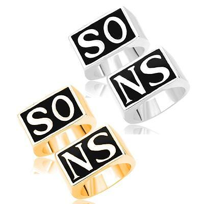 2Pcs/Set Punk Style Men's SONS Rings Lovely Silver Gold Jewelry