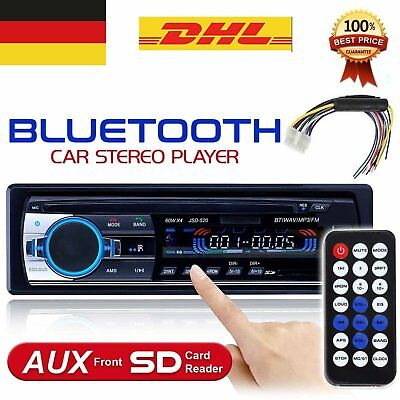 12v STEREO AUTO BLUETOOTH AUTORADIO VIVAVOCE RADIO FM MP3 USB AUX SD CARD 60W X4