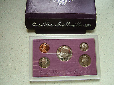 1988  'proof'   United States Of America..  Year Set Of Coins
