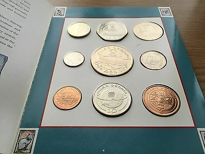 1990 Isle Of Man Decimal 9 Coin Collection - Year Set - BU 1p to £5 - Very Rare