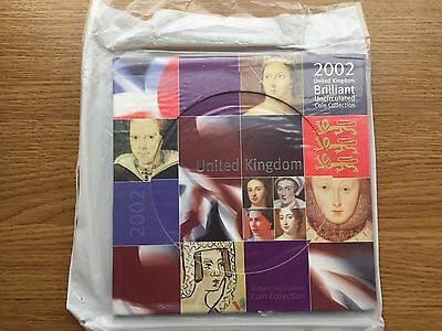 2002 Sealed Royal Mint UK Brilliant Uncirculated Year Coin Set - GB BU Original