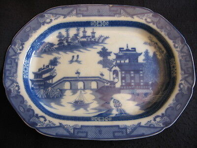 "RARE VICTORIAN LEEDS POTTERY 18.5"" MEAT/POULTRY PLATTER  c.1870 Superb!!"