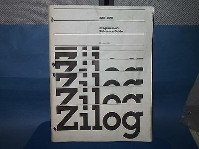 ZILOG Databook PROGRAMMER'S REFERENCE GUIDE Z-80 CPU 1982