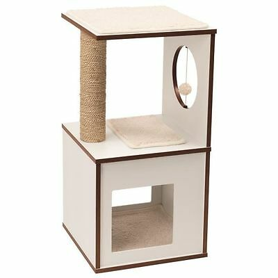 VESPER Arbre a chat Box S - Blanc - Arbre a chat V-BOX - Taille S  NEUF