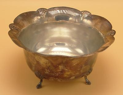 Wm Rogers Silverplate Ornate Footed Bowl 437