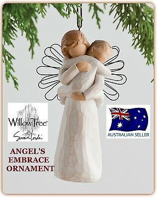 ANGEL'S EMBRACE ORNAMENT Demdaco Willow Tree Figurine By Susan Lordi NEW IN BOX