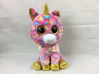 Ty Beanie Boos Large Plush Fantasia Pink Unicorn Soft Toy NWT New with tags