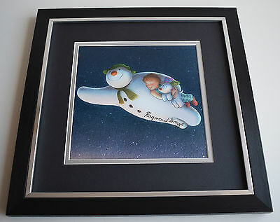 Raymond Briggs SIGNED Framed LARGE Square Photo Autograph display AFTAL & COA