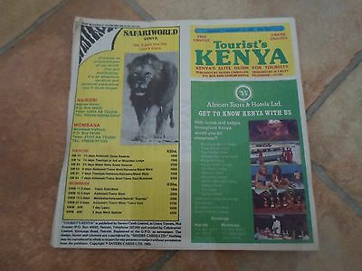 Vintage Kenya Tourist's Information 1st August 1985 + Illustrated + Advertising