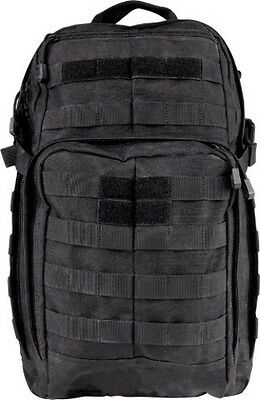 5.11 Tactical Rush 12 Bag Black 1050D water resistant nylon construction with YK