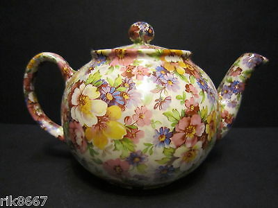 1 Heron Cross Pottery Summer Meadow pink Chintz English 3 Cup Tea Pot or 2 mugs