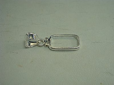 Sterling Silver Screw top Bar Frame/Bezel Pendant Fits 1 Gram Credit Suisse Bar
