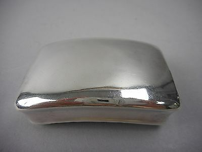 Georgian Sterling Snuff Box by Thomas Willmore of Brimingham England Dated 1811