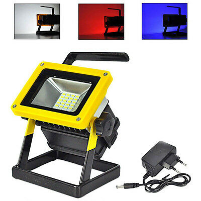 24 LED 10W Rechargeable Portable Outdoor Camping Flood Light Spot Work Lamp Car