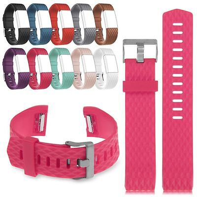 Replacement Wrist Band Wristband Strap Fr Fitbit Charge2 Bracelet-Classic Buckle