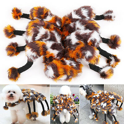 Puppy Kitten Clothes Outfit Clothing Fuzzy Spider Tarantula Cat Dog Costumes ZX
