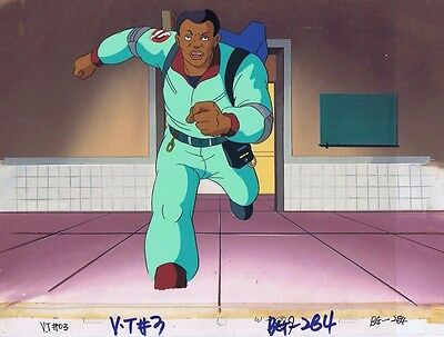 The Real Ghostbusters Original Production Animation Cel & Painted Bkgd #A10800