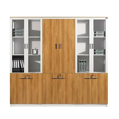 Modern Office Home 6 Door Storage Wall Display Unit Book Shelf Cabinet  C325 6D