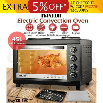 45L Portable Electric Convection Benchtop Oven Toaster Grill with Accessories