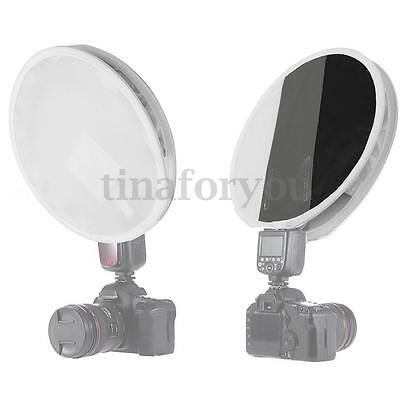 31cm Mini Portable Round Flash Speedlite Diffuser Softbox For Canon Nikon