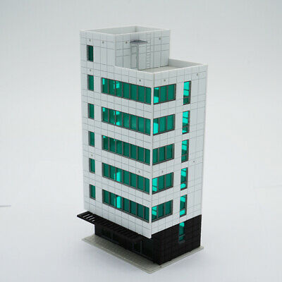 Outland Models Railway Colored Modern City Business Building Tall Office N Gauge