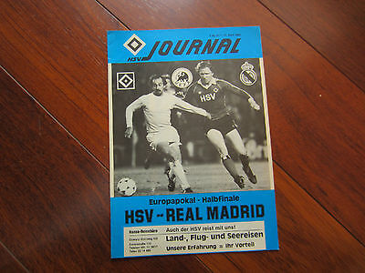 1979-80 EUROPEAN CUP SEMI-FINAL HSV HAMBURG v REAL MADRID