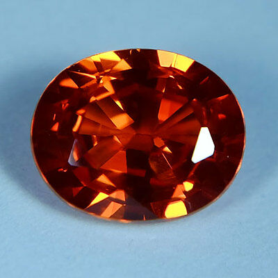 3.95Ct.AWESOME VIVID PADPARADSCHA SAPPHIRE OVAL GEMSTONE