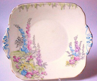 Foley Art Deco  English  Vintage China Serving Plate Cake Bread Teaset Teaware