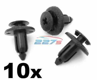 10x 6mm Plastic Trim Panel Clips- Toyota Yaris, Avensis, Corolla etc 90467-06133