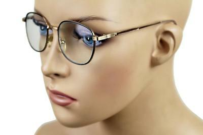 New Kid's Retro Child's Vintage Small Round Clear Seeing Glasses Gold S-600