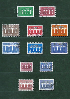 Europa CEPT1984 70 different stamps & 4 minisheets all fine used