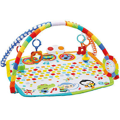 Fisher Price Baby's Bandstand Listen, Lay, & Play Musical Mat Play Gym | DFP69