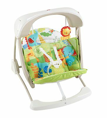Fisher Price Infant 2-in-1 Rainforest Friends Take-Along Swing & Seat | CKK59