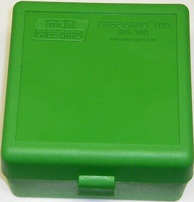 MTM Case Gard™ New Plastic Ammo Box 100 Rd RS-100-10 Rifle 223 204 17 GREEN