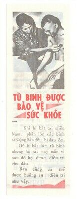 Vietnam Era Propaganda Leaflet #273 - Medical Care for Prisoners (small size)