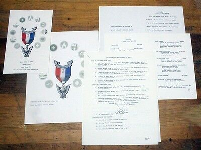 BSA Boy Scout - Eagle Scout Honor Court Packet - 1970 Shawnee Mission, KS