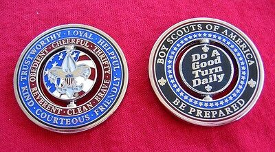 SET OF 2 -  Good Turn Daily Challenge Coin Boy Cub Scout Motto Law 2017 Jamboree
