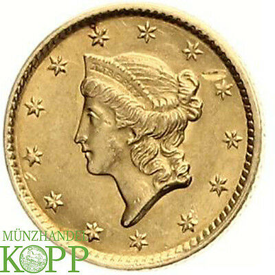 AA1444) USA 1 DOLLAR 1852 Liberty Head GOLD