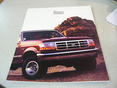 Rare 1992 Ford Bronco Brochure 7 pages! With Specifications